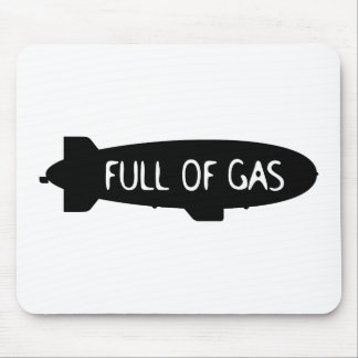 Por completo del gas - dirigible no rígido alfombrillas de ratón