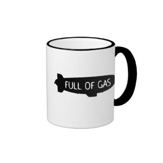 Por completo del gas - dirigible no rígido taza de café