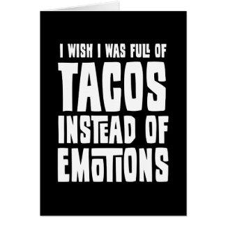 Por completo del Tacos Tarjeta De Felicitación