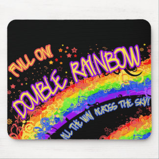 ¡Por completo en el arco iris doble Mousepad con e