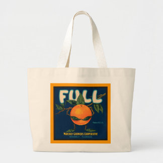 Por completo - etiqueta anaranjada del cajón bolsa tela grande