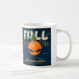 Por completo - etiqueta anaranjada del cajón tazas de café