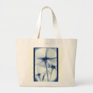 Por debajo las flores - vintage Cyanotype azul env Bolsa De Mano