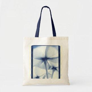 Por debajo las flores - vintage Cyanotype azul env Bolsas