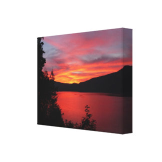 Por do sol canvas print
