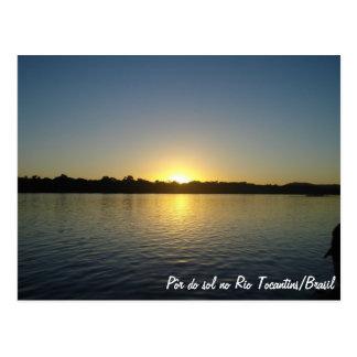 Por do Sol no Rio Tocantins Cartao Postal