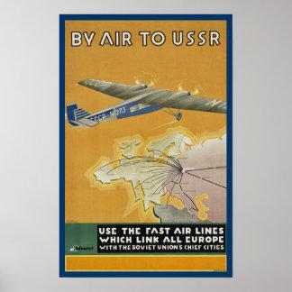 Por el aire a URSS Póster