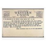 Por el alambre directo de Western Union Invitaciones Personalizada