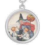Por el collar gordo del arte de Halloween del vint