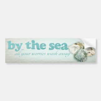 Por el mar descasca a la pegatina para el parachoq pegatina para auto