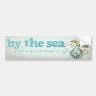 Por el mar descasca a la pegatina para el parachoq pegatina de parachoque