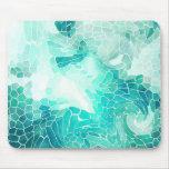 Por el mar, impresión abstracta del mosaico alfombrilla de raton