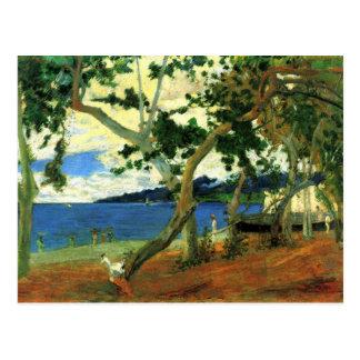 Por el mar - Paul Gauguin Tarjetas Postales