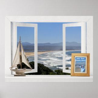 Por el océano -- Opinión de ventana abierta del pe Posters