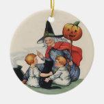 Por el ornamento gordo de Halloween del vintage de Adorno Para Reyes