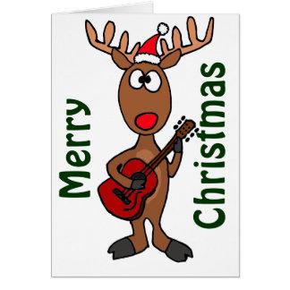 POR el reno de Rudolph que toca la guitarra Felicitacion