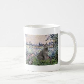 Por el Sena - gato azul ruso Taza De Café