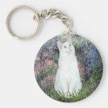 Por el Sena - gato blanco Llavero