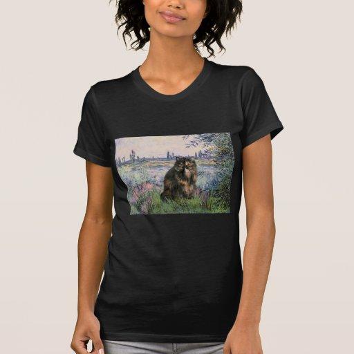Por el Sena - gato de calicó persa Camisetas