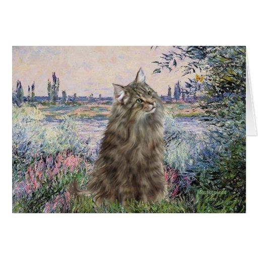 Por el Sena - gato noruego del bosque Tarjeta