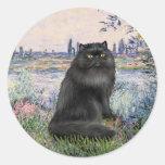 Por el Sena - gato persa negro Etiqueta