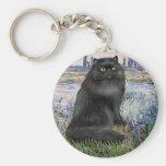 Por el Sena - gato persa negro Llavero