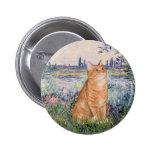 Por el Sena - gato Sh 46 del Tabby anaranjado Pin