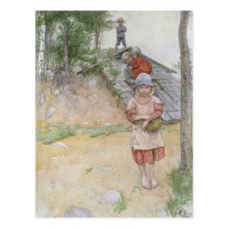 Por el sótano de Carl Larsson Postal