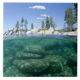 Por encima y por debajo del lago Tahoe Teja Ceramica