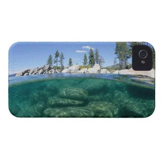 Por encima y por debajo del lago Tahoe Funda Para iPhone 4 De Case-Mate