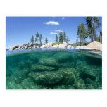 Por encima y por debajo del lago Tahoe Postal