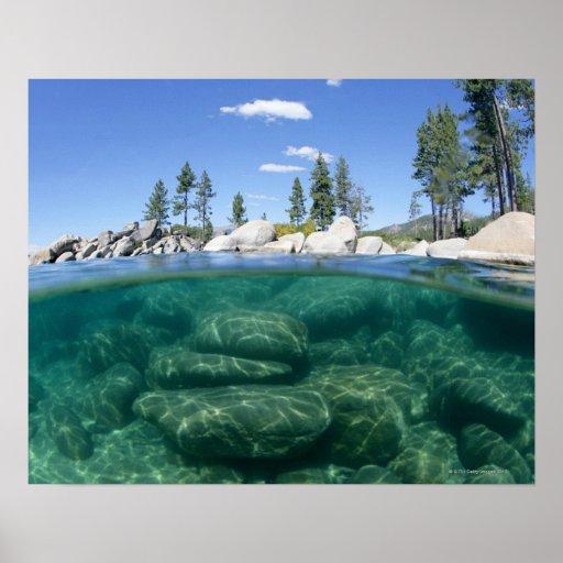 Por encima y por debajo del lago Tahoe Póster