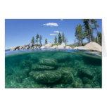 Por encima y por debajo del lago Tahoe Tarjeta De Felicitación