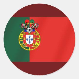 Por Fás de Portugal de Bandeira Portuguesa Pegatina Redonda