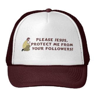 Por favor humor del cristiano de Jesús Gorros Bordados