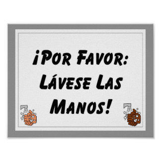 Por Favor Lavese Las Manos Posters