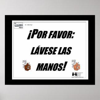 Por Favor Lavese Las Manos Poster