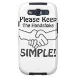 Por favor mantenga el apretón de manos simple samsung galaxy s3 carcasas