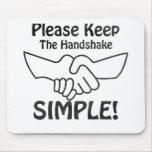 Por favor mantenga el apretón de manos simple alfombrillas de raton