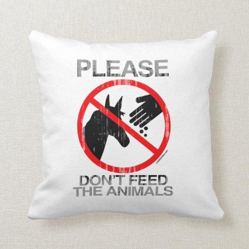 Por favor no alimente a animales (Demócrata) Faded Cojín