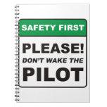 Por favor, no despierte al piloto cuadernos