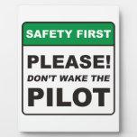 ¡Por favor, no despierte al piloto! Placas Con Fotos