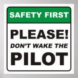 ¡Por favor, no despierte al piloto! Posters