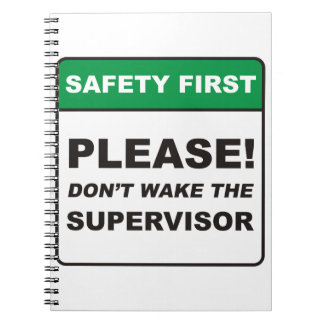 Por favor, no despierte al supervisor libretas espirales