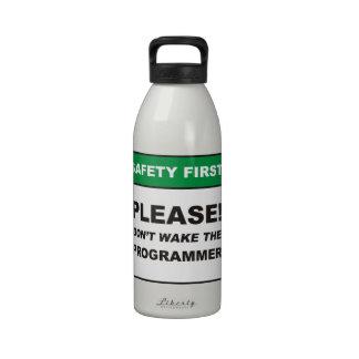 ¡Por favor no despierte el programador Botellas De Agua Reutilizables