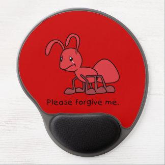 Por favor perdóneme la almohada roja gritadora de alfombrilla de raton con gel