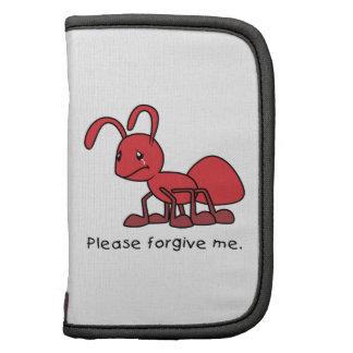 Por favor perdóneme la almohada roja gritadora de organizadores