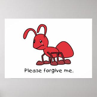 Por favor perdóneme la almohada roja gritadora de impresiones
