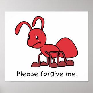 Por favor perdóneme la almohada roja gritadora de posters