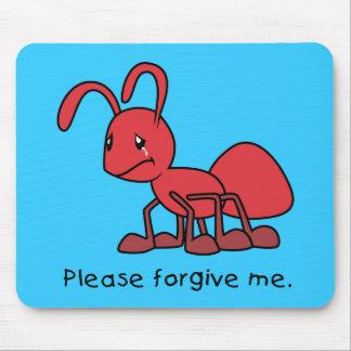 Por favor perdóneme la almohada roja gritadora de tapetes de ratones